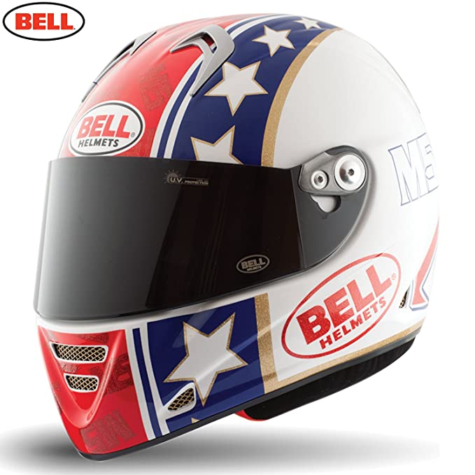 Amazon.es: Bell Helmets Street 2015 M5X Carbon Casco Adulto, color Star Rojo/Azul/Dorado, talla M