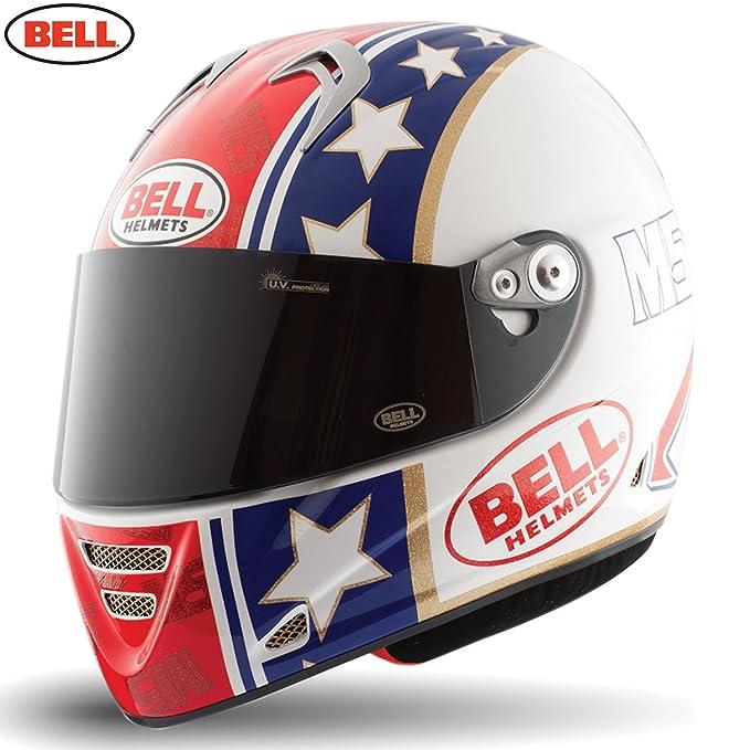 Amazon.es: Bell Helmets Street 2015 M5X Carbon Casco Adulto, color Star Rojo/Azul/Dorado, talla M