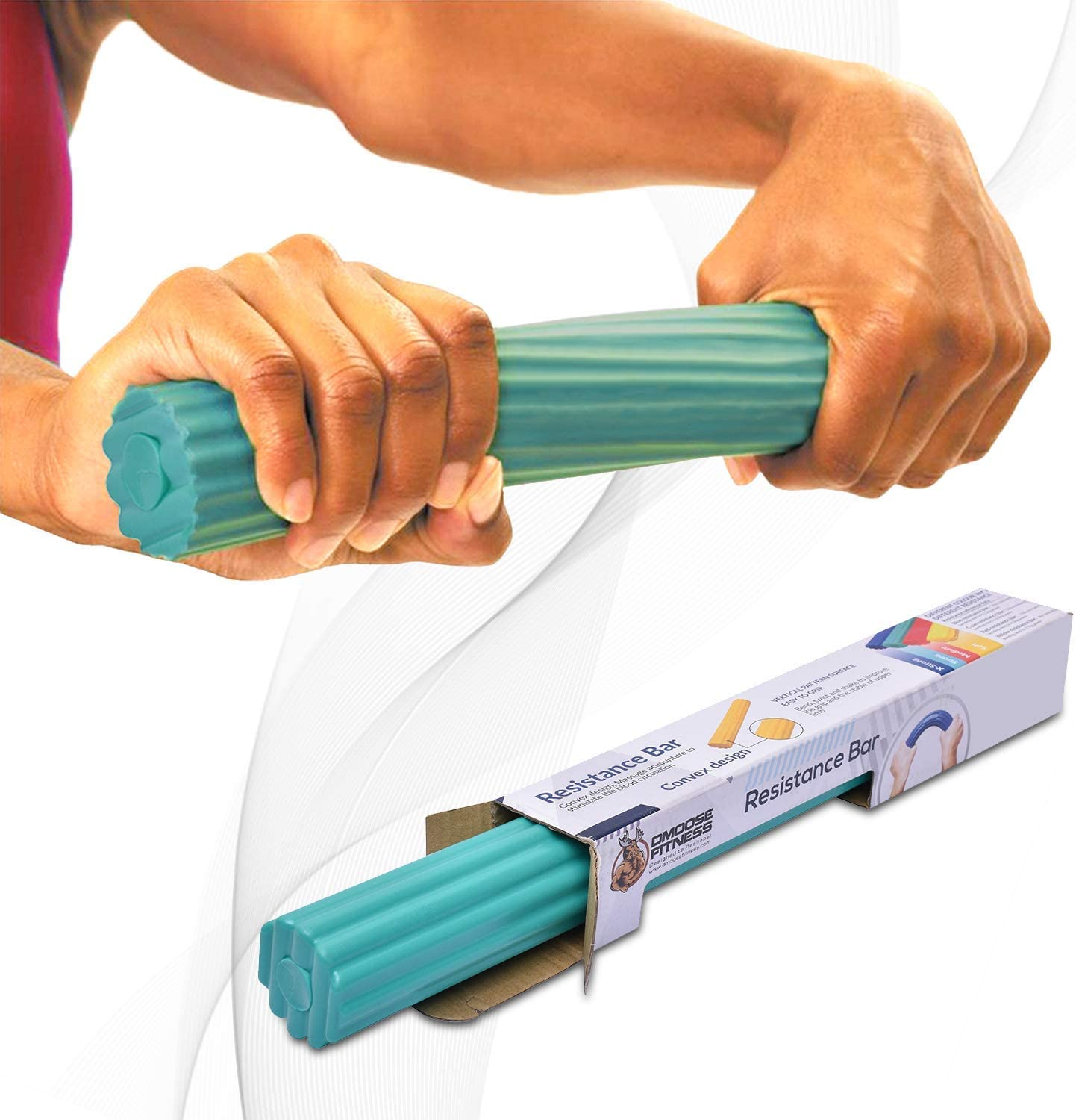 DMoose Flex Tennis Elbow Bar for Physical Therapy, Improve Grip Strength Hand Forearm Strengthener for Golfers, Rehab, Tendonitis Pain, Injury Recovery, Rehabilitation Equipment, Resistance Training