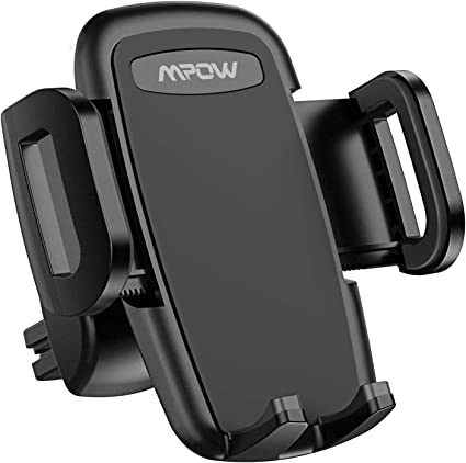Upgrade Clamp Arm Air Vent Phone Holder Mpow Car Phone Mount Rotatable Phone Mount Compatible iPhone 11 Pro Max XS XR X 8 7 6Plus Etc 3-Level Adjustable Clip One Button Release Clamp