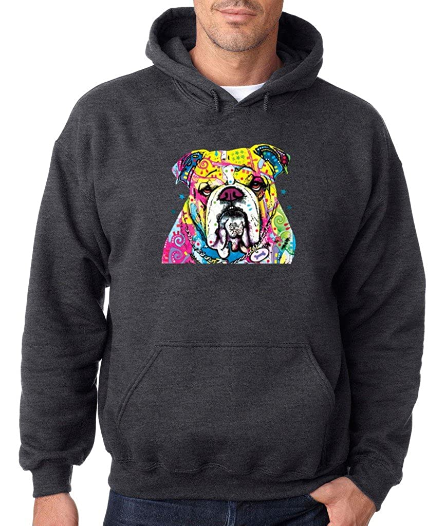 VISHTEA Bulldog Lover I Love Bulldog Hoodie Cute Bulldog Dog Mom Dog Dad Sweatshirt