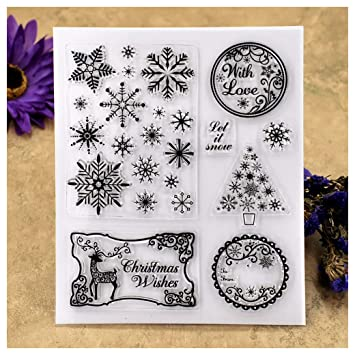 Kwan Crafts Sewing thread Clear Stamps for Card Making Decoration and DIY Scrapbooking
