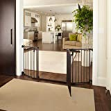 """Deluxe Décor Gate"" by North States: Fits extra-wide openings and has a matte finish on heavy-duty metal to complement any décor. Hardware mount. Fits openings 38.3"" to 72"" wide (30"" tall, Bronze)"