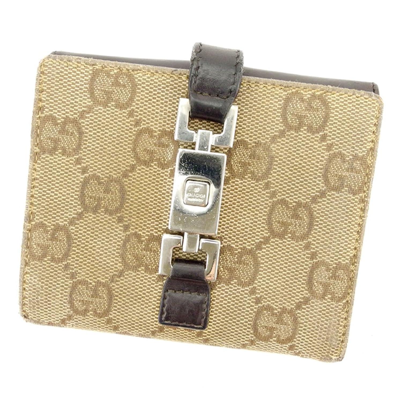 43d67d0e1e3a [グッチ] GUCCI 二つ折り 財布 メンズ可 035 2149 2129 ジャッキー金具 中古 T6342 B07B9X13Y3 Wホック財布- レディースバッグ財布