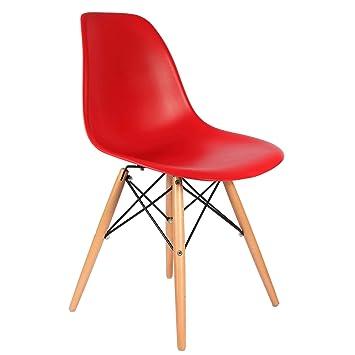 Charles Eames Stuhl DSW Rot