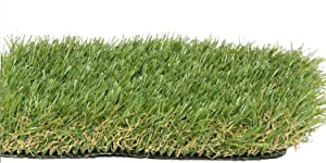 Zen Garden PZG Premium Artificial Grass Patch w/Drainage Holes & Rubber Backing | 4-Tone Realistic Synthetic Grass Mat | 1.6-inch Blade Height