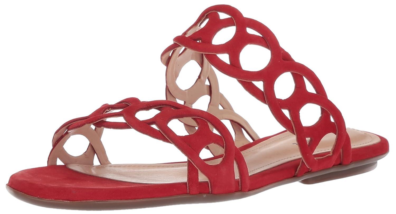 SCHUTZ Women's Yaslin Slide Sandal B0752JZGBF 7 B(M) US|Scarlet