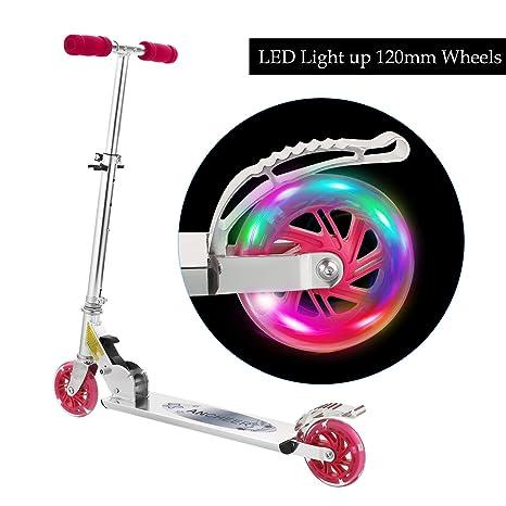 WeSkate Patinete para niños con Ruedas con luz LED, Ajuste ...