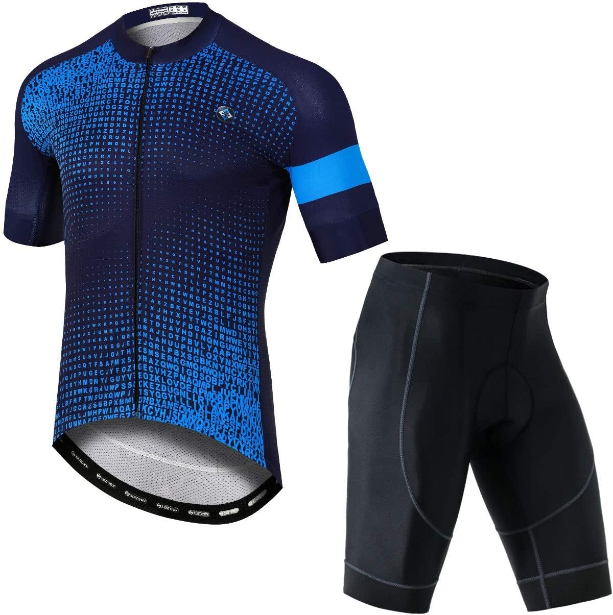 Mens Bicycle Cycling Outfit Jersey Bicycle Short Sleeve Set Outdoor