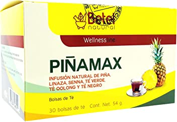 Pinamax Pineapple/Pina Tea by Betel Natural - Promotes Healthy Digestion and Metabolism - 30