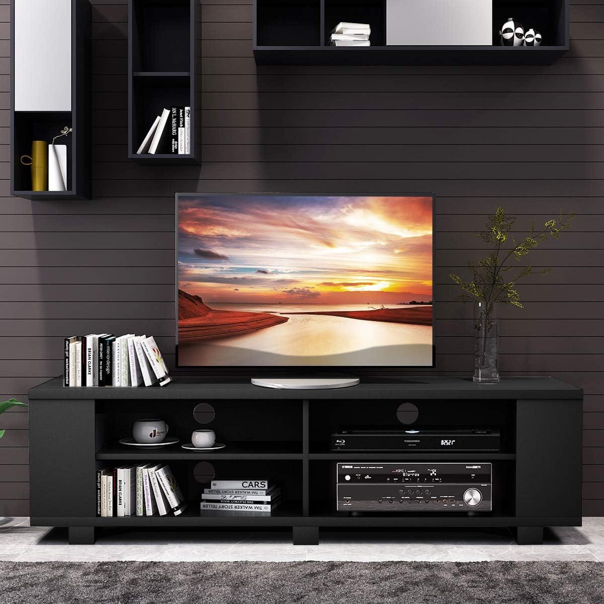 Tangkula - Mueble de Madera para televisor de hasta 59 Pulgadas, con 8 estantes de Almacenamiento Abiertos: Amazon.es: Juguetes y juegos
