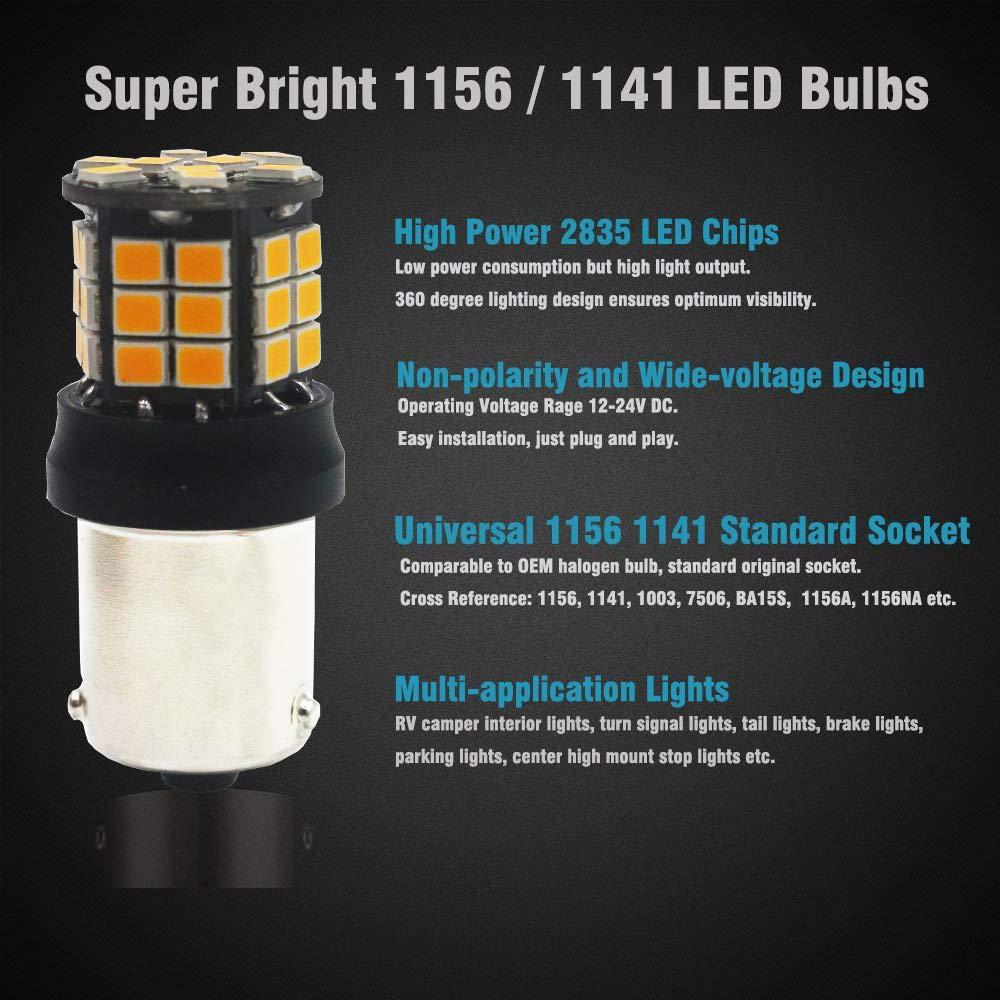 AMAZENAR 2-Pack 7443 7440 992 T20 Car Tail Backup Light 12V-24V White Extremely Bright 950 Lumens 2835 33 SMD LED Light Bulb Replacement for Tail Blinker LED Bulb Parking Bulbs Turn Signal Light