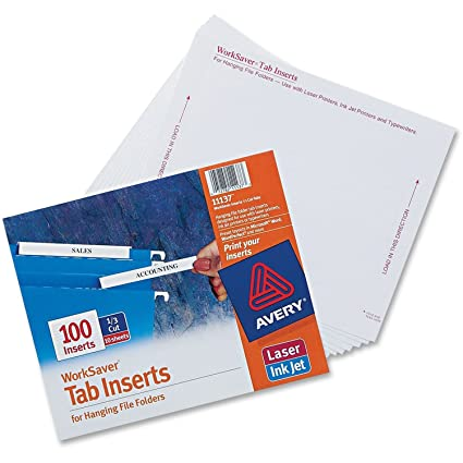 graphic about Printable Hanging File Folder Tab Inserts titled : Avery Putting Folder Printable Tab Inserts