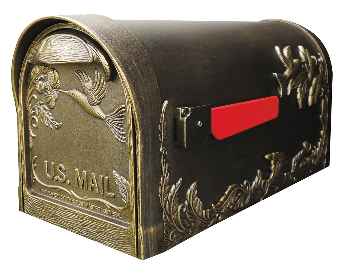 Special Lite Products SCB-1005-BRZ Hummingbird Curbside Mailbox Hand Rubbed Bronze