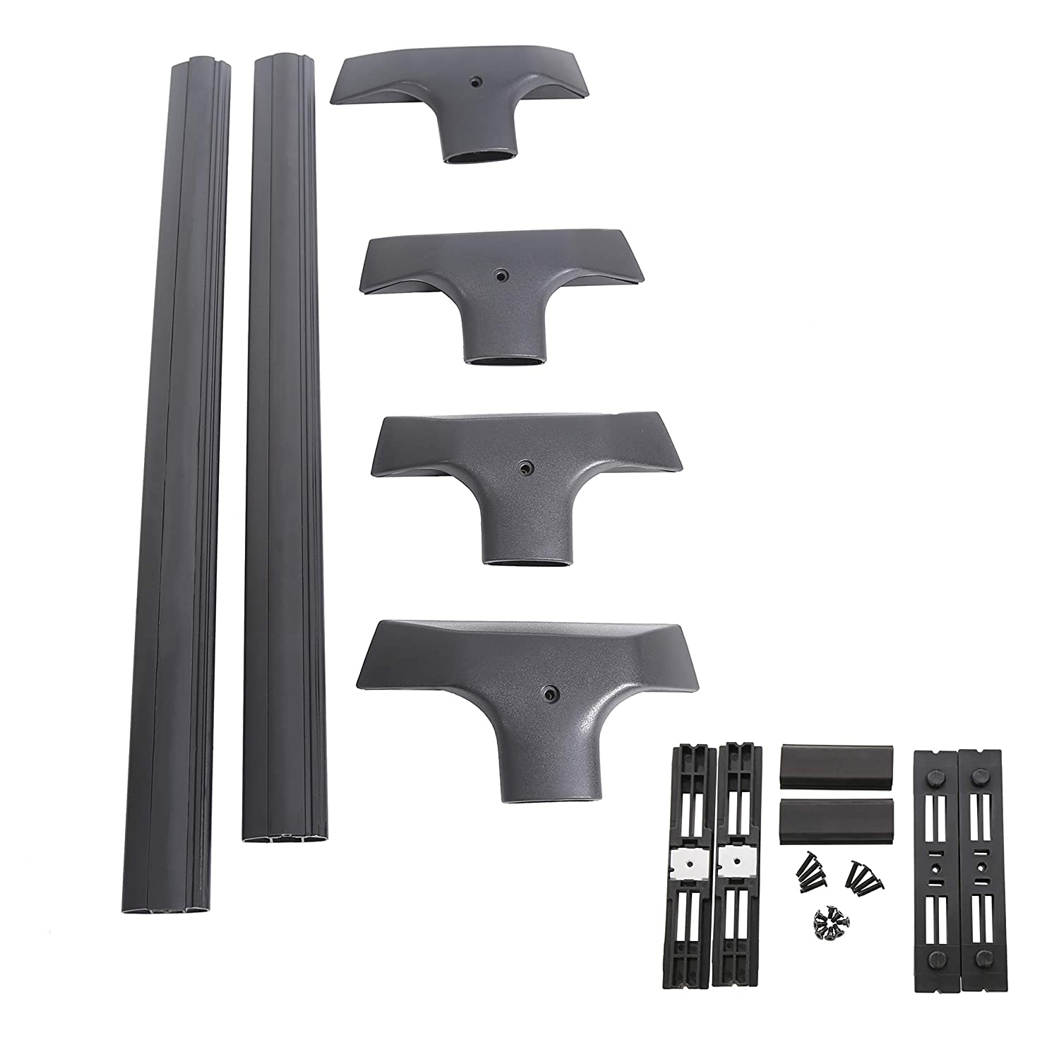 7BLACKSMITHS Removable Aluminum Roof Rack Cross Bars for 2009-2017 Chevy Chevrolet Traverse-NOT Included C Channel