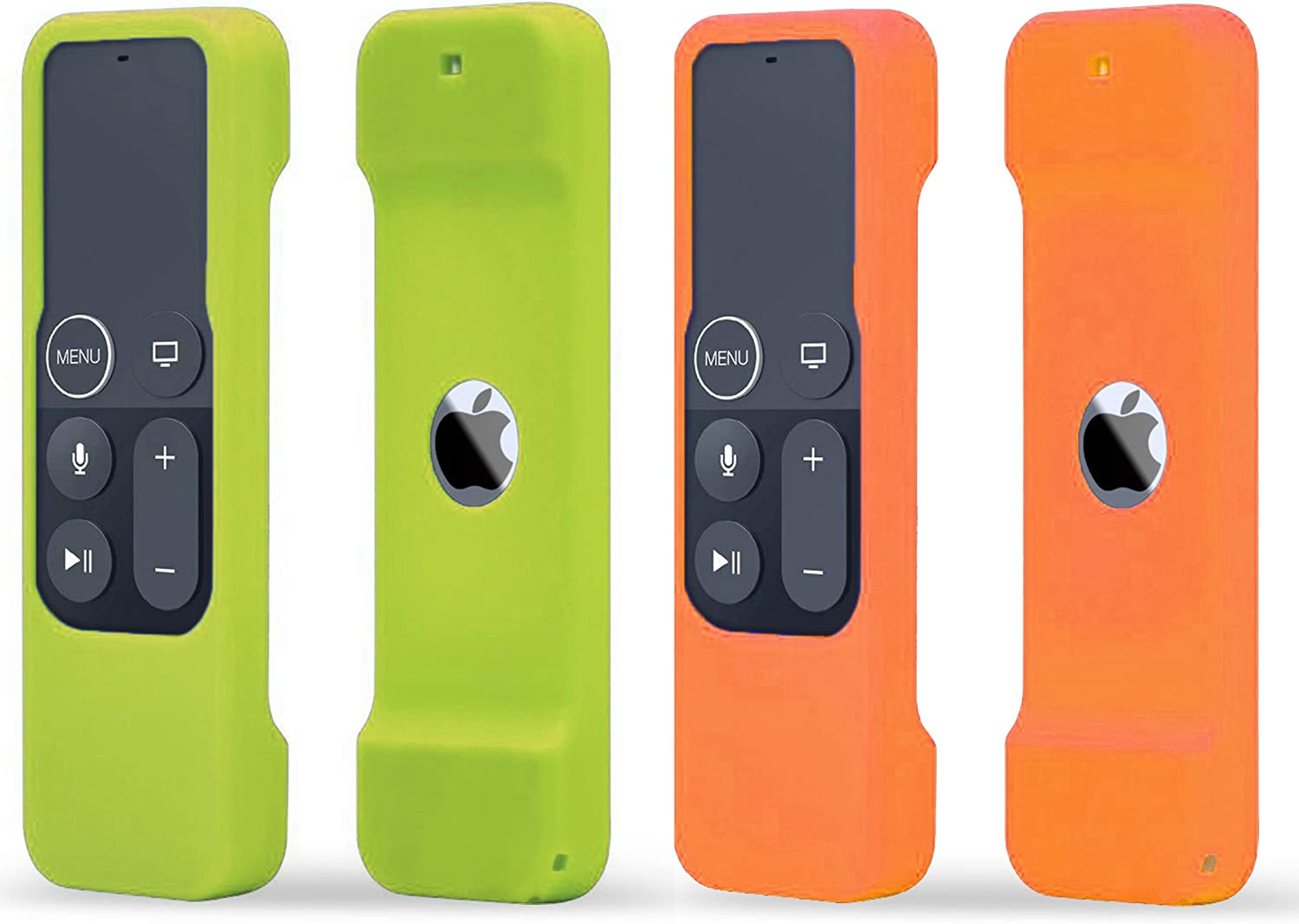 TOKERSE 2 Pack Silicone Case Compatible with Apple TV 4K 4th 5th Generation Siri Remote - Shock Proof Remote Cover Case Compatible with Apple TV 4K 4th 5th Gen Siri Remote Controller - Green Orange