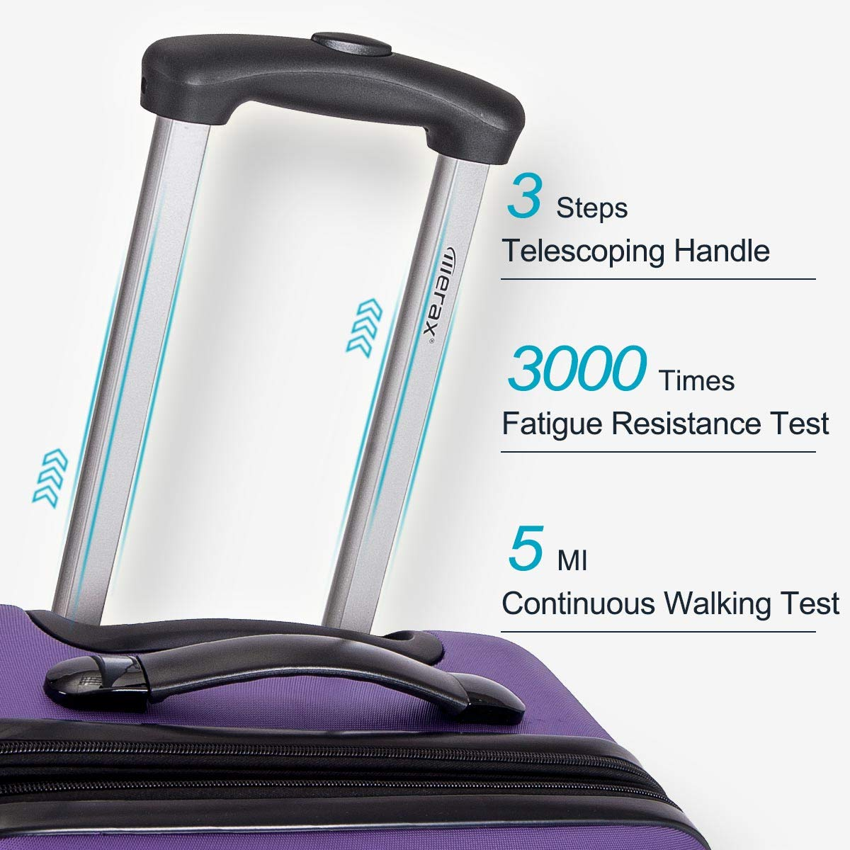 Classic Black Merax 3 Pcs Luggage Set Expandable Hardside Lightweight Spinner Suitcase