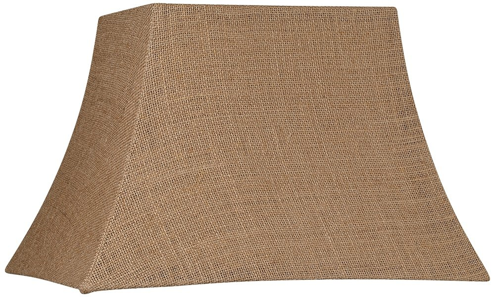 Natural Burlap Rectangle Lamp Shade 7/10x12/16x11 (Spider) by Brentwood