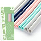 """22 Pcs Silicone Straws - Reusable Silicone Drinking Straws for 30oz and 20oz Tumblers 8.7"""" Straight BPA Free Straws with…"""