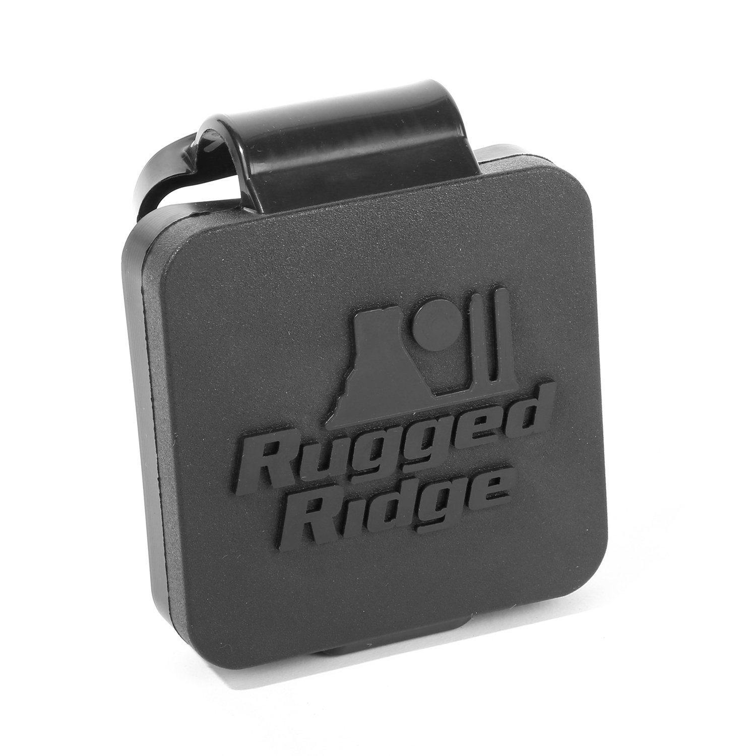 Rugged Ridge (11580.26) Black 2'' Receiver Hitch Plug with Logo by Rugged Ridge