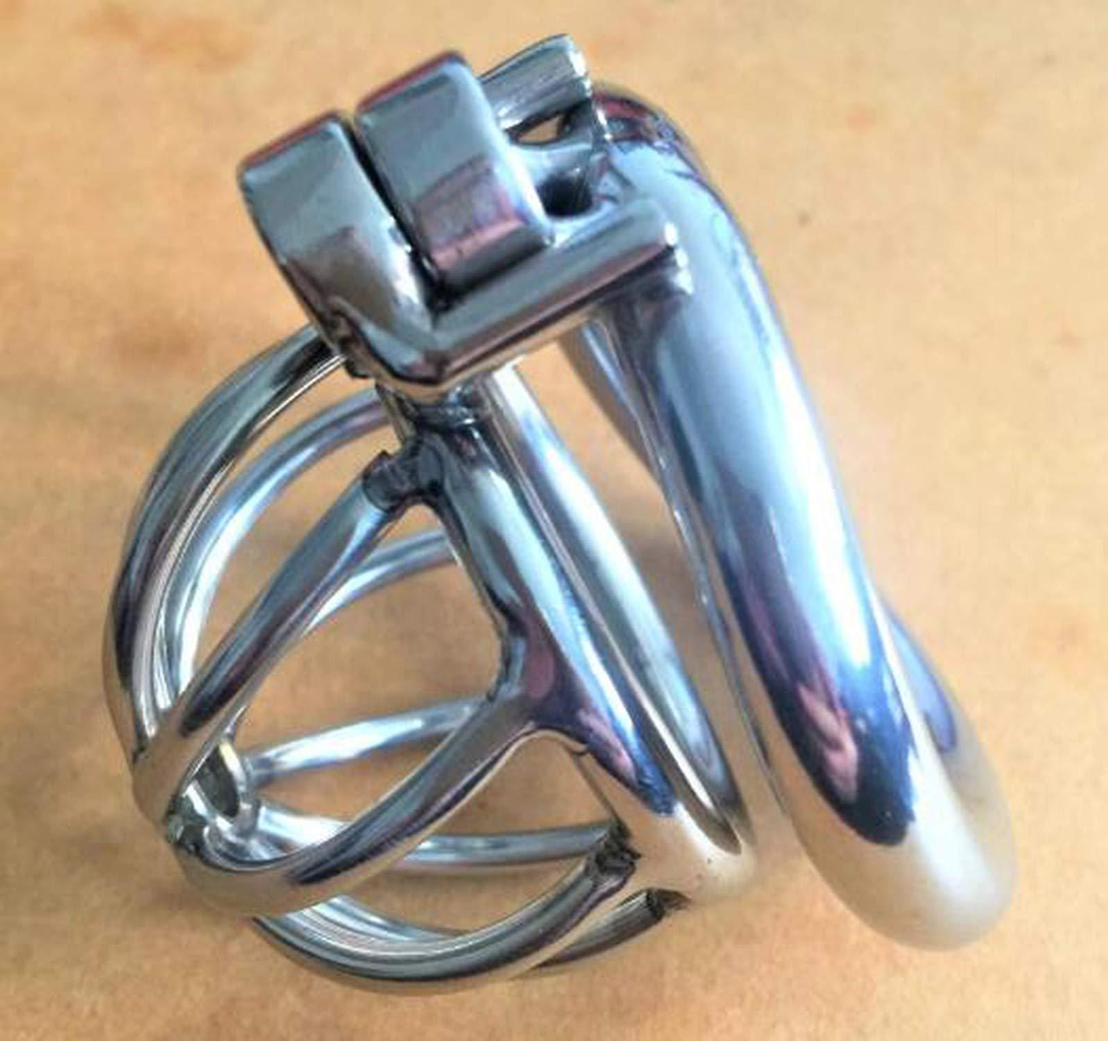 TShirt+TJAZV Male Chašt-ity Screw Lock Ergonomic Stainlešs Steel Male Chá-štity Dēvicē Super Small Cōck Càge Pênǐs Lock Cōck Rīng Chá-štity Belt S070,40mm
