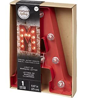 darice 987 battery operated metal light up marquee letter