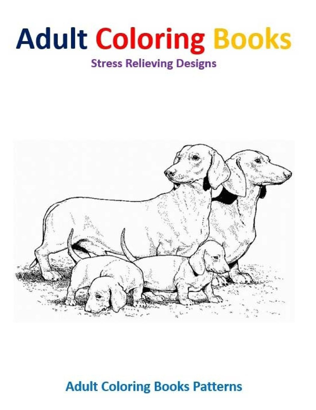 Amazon Adult Coloring Books Dog Stress Relief Designs 9781514619537 Patterns