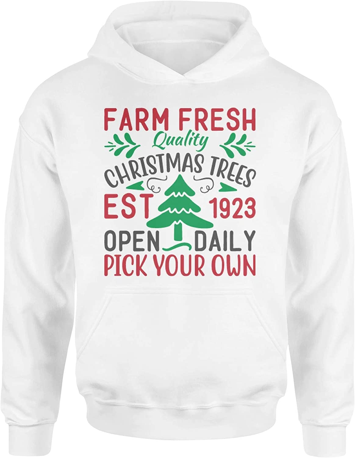 Buy 3ChipPOD Farm Fresh Quality Christmas Trees est 1923 Open Daily Pick Your own Christmas Standard Hoodie Hooded Sweatshirt