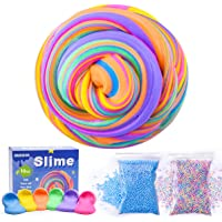 6-Pack AUNOOL 10 OZ Fluffy Floam Slime Scented Stress Relief Toy