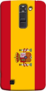 ColorKing Football Spain 06 Multicolor shell case cover for LG K10