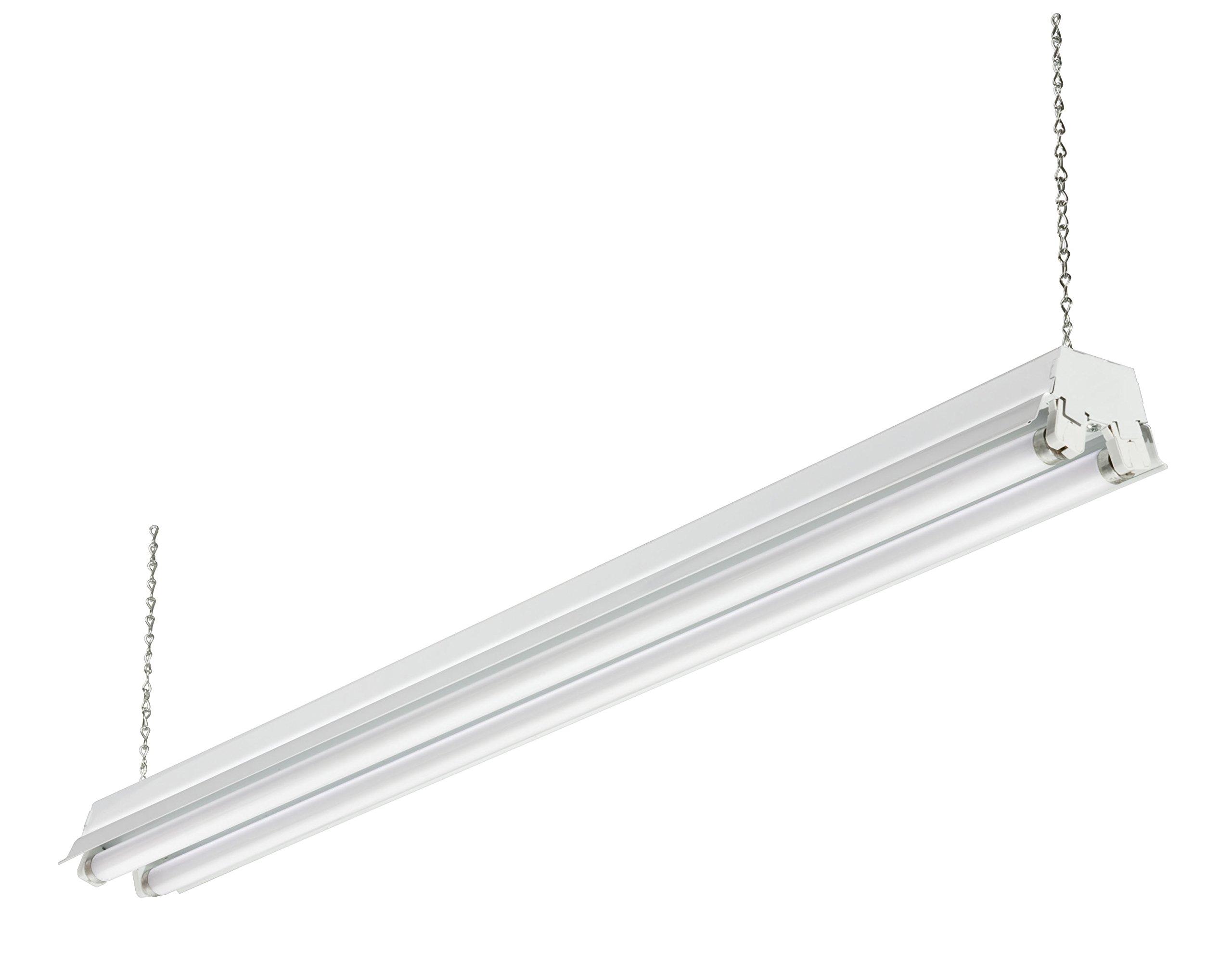 Lithonia Lighting 1233 CW 232 SHOPLIGHT 4-Feet 2-Light T8 32W Fluorescent Cold Weather Shop Light, White