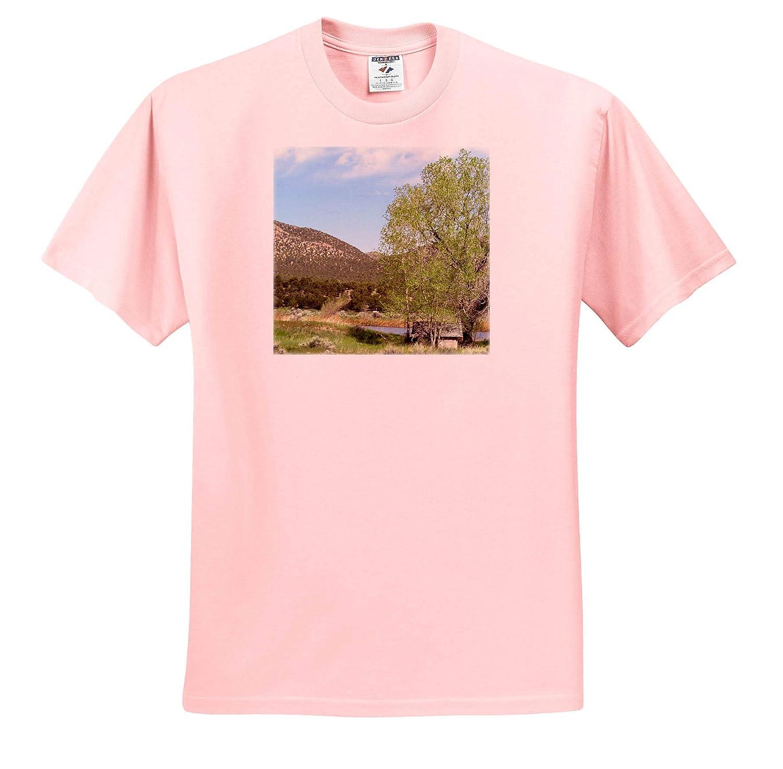 Backroad Beauty T-Shirts 3dRose Jos Fauxtographee A Playhouse with a Tree Near a Stream on a Backroad