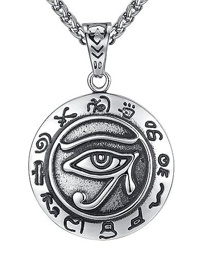 Oeil d'horus pendentif homme