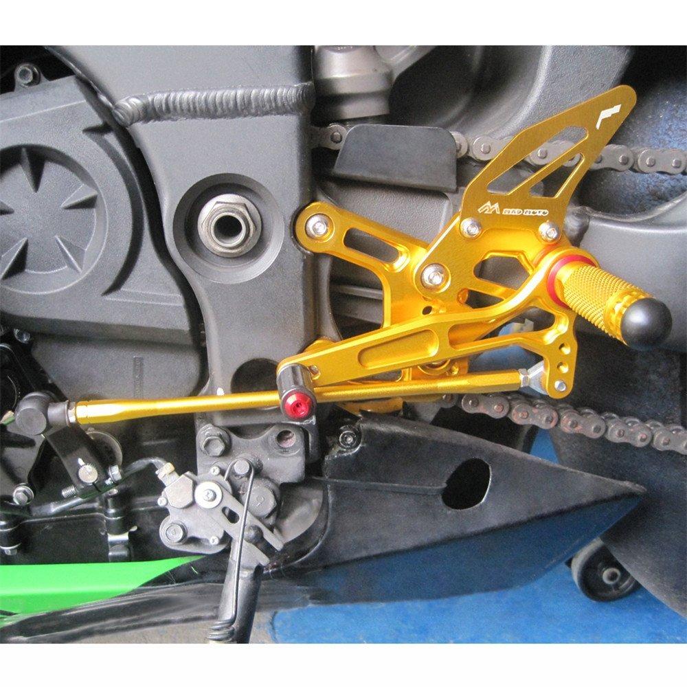 Rearsets Rear Sets Footpegs CNC Adjustable For Kawasaki ZX10R 2008-2010
