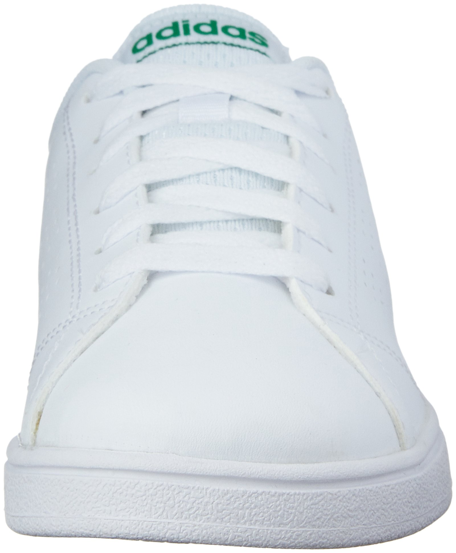 adidas Kids' VS Advantage Clean Sneaker, White/White/Green, 1.5 M US Little Kid by adidas (Image #4)