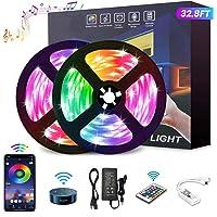 YOMYM Tira LED, Tira de luz controlada por teléfono Inteligente, Trabaja con Sistema Android y iOS, Alexa, Asistente de…