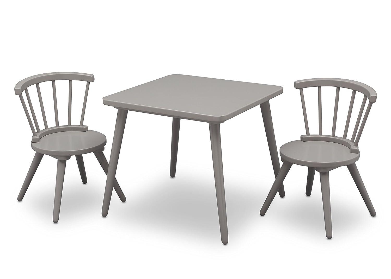 Delta Children Windsor Table & 2 Chair Set, Grey 531300-026