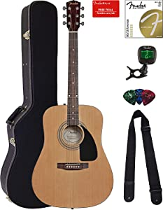 Fender FA-100 Dreadnought Acoustic Guitar Bundle with Hardshell Case