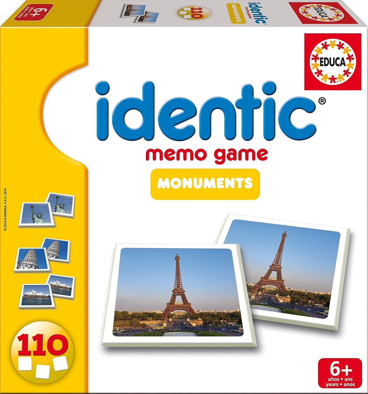 Educa Juegos - Identic Monumentos, 110 Cartas, Juego de Mesa (16238): Amazon.es: Juguetes y juegos