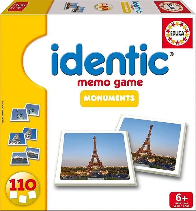 Educa Juegos - Identic Monumentos, 110 Cartas, Juego de Mesa ...