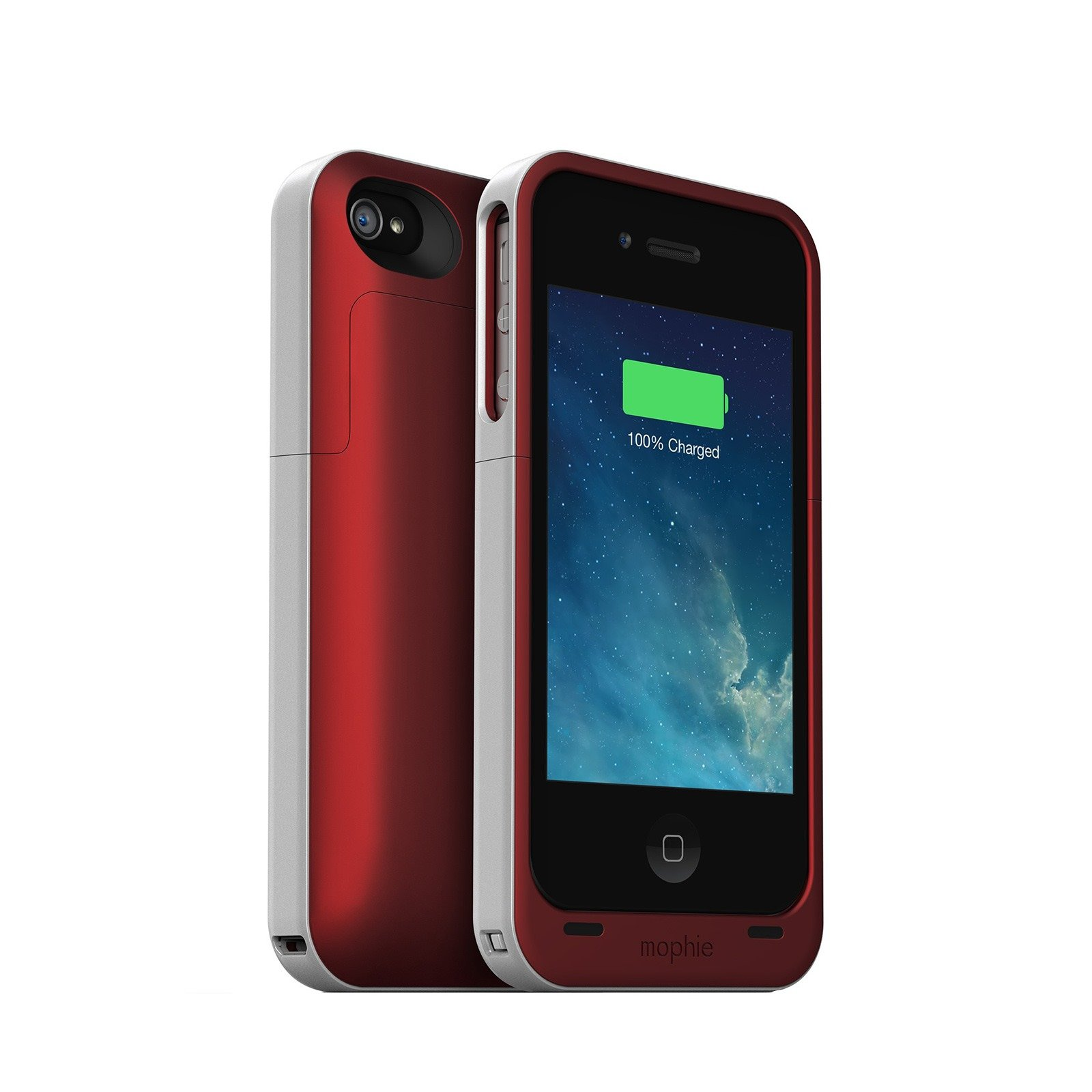 mophie juice pack air battery case for iphone 4 4s red. Black Bedroom Furniture Sets. Home Design Ideas
