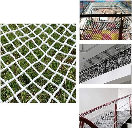 3 * 6m Seguridad Anti-caída Red de Nylon - Mascotas For Niños Balcón Escaleras Protección Red Interior Blanco Cuerda de Malla Decorativa 6mm / Cuadrícula 5cm Tamaño Opcional (Size : 1*2m) : Amazon.es: Jardín