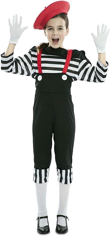 EUROCARNAVALES Disfraz de Mimo Circo para niña 3 a 4 años: Amazon ...