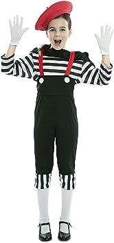 EUROCARNAVALES Disfraz de Mimo Circo para niña 3 a 4 años ...