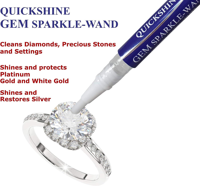 Limpiador compacto para joyas apto para diamantes y piedras preciosas oro platino y plata QUICKSHINE Limpiador de joyas de diamante brillante varita