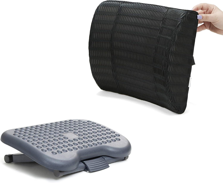 Mind Reader CMBFTFOAM-BLK Rest, Ergonomic Foot, Pressure Relief for Comfort, Back, and Body, Foam, Black