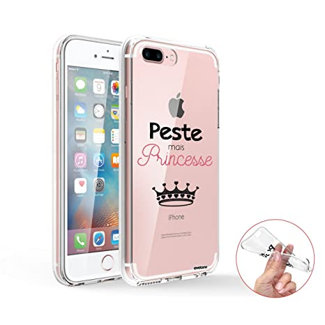 coque iphone 8 plus peste mais princesse