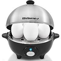 Elite Cuisine EGC-508 Egg Poacher, Omelet & Soft, Medium, Hard-Boiled Egg Cooker with Auto-Off, Buzzer and Stainless…