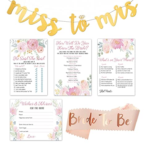 floral bridal shower games pack set of 4 party games 50 sheets each