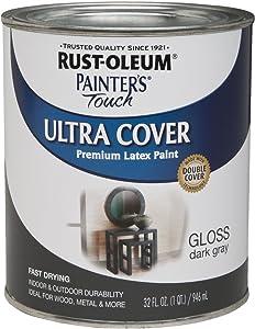 Rust-Oleum 1986502 Painters Touch Latex, 1-Quart, Dark Gray